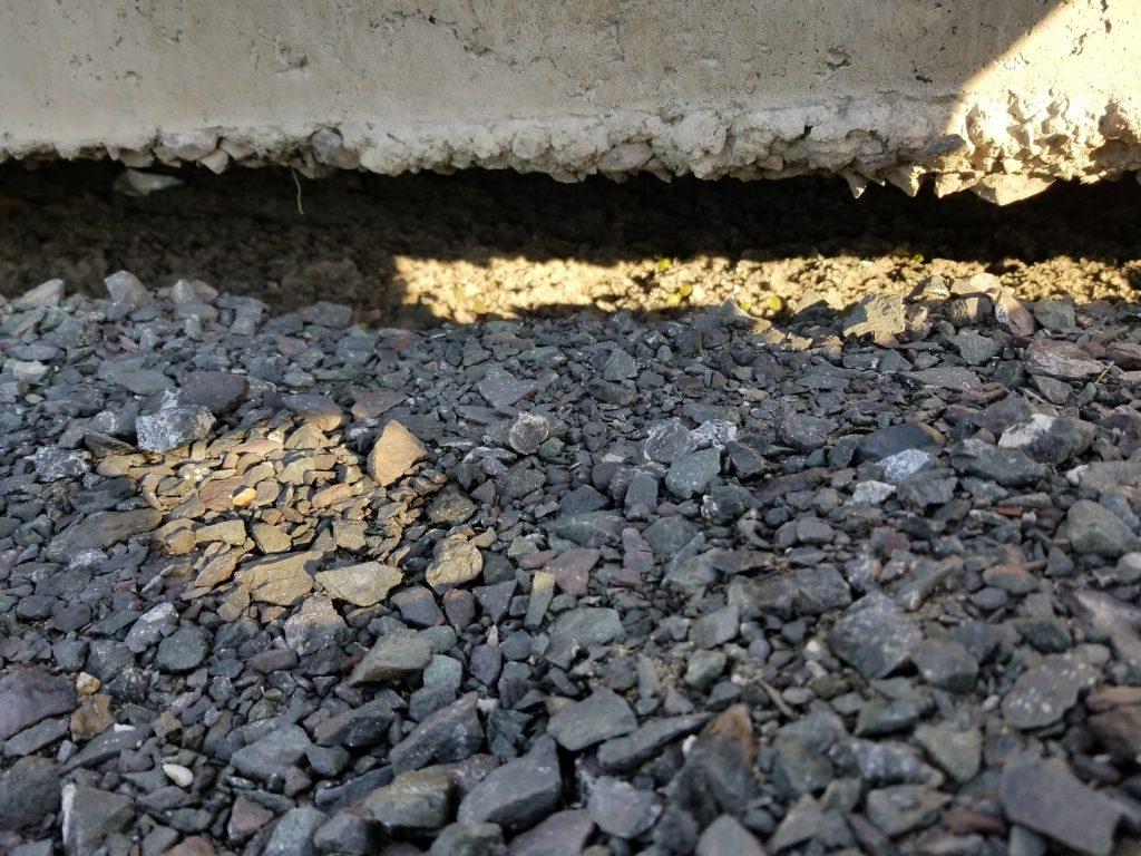 vide sous dalles de béton
